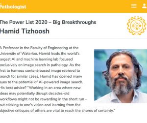 "UW Professor on The Pathologist's ""Power List 2020"""